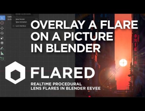 Add a lens flare to a picture in Blender